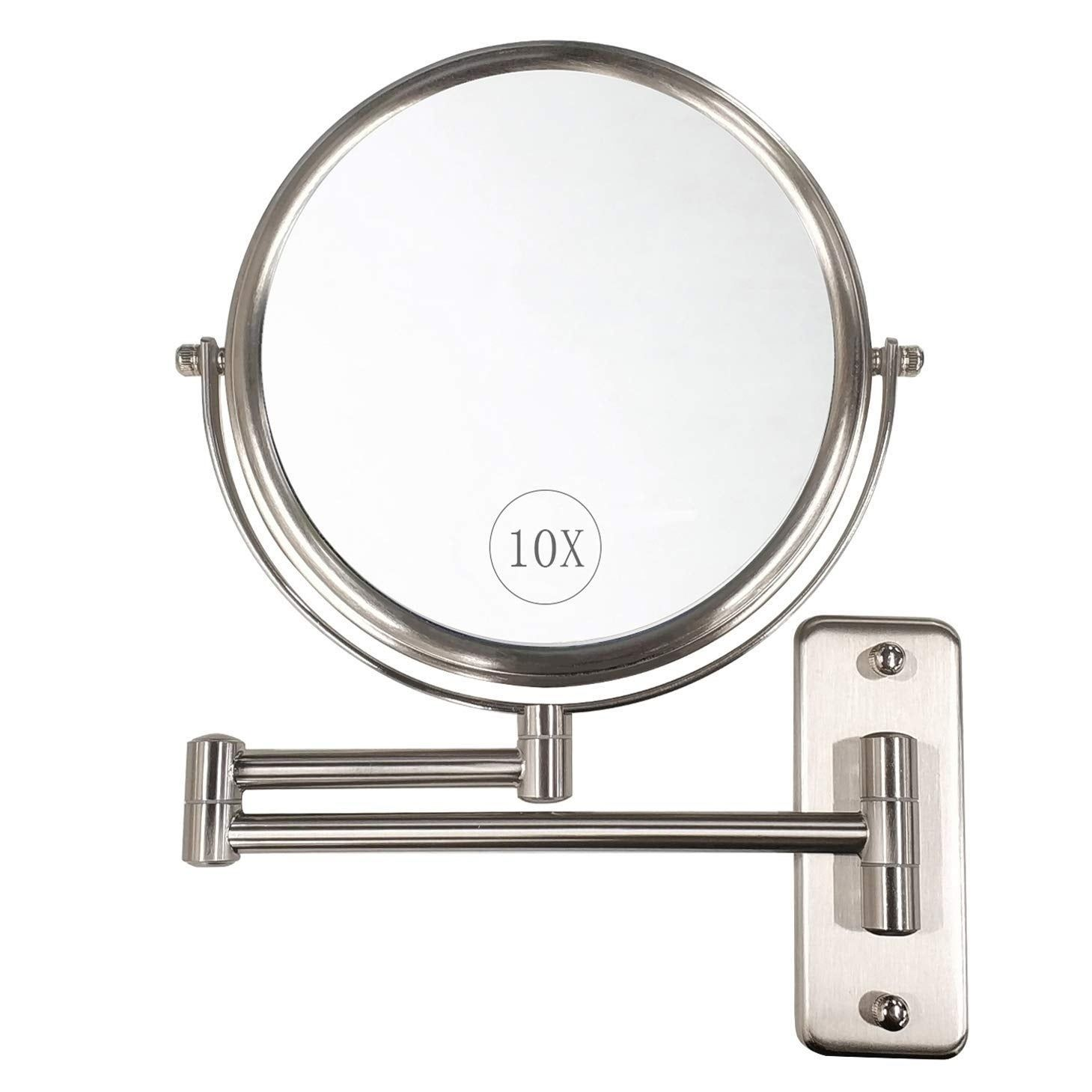Wall Mounted Makeup Mirror 10x Magnification Wall