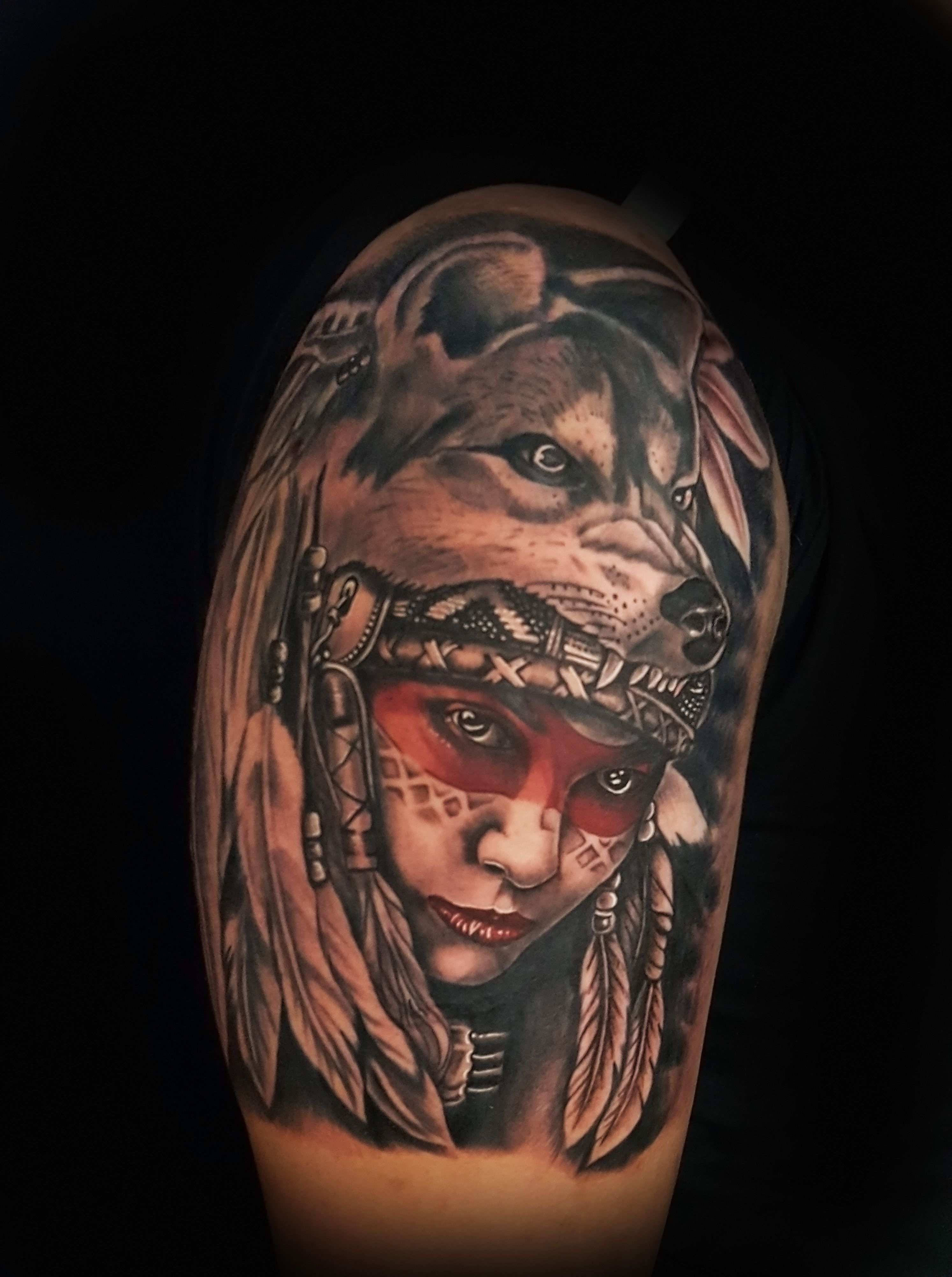 Indian Girl Done By Mike Evans At Elite Skin Art Lawton Tattoo Oklahoma Tattoo Tattoos Sleeve Tattoos Oklahoma Tattoo