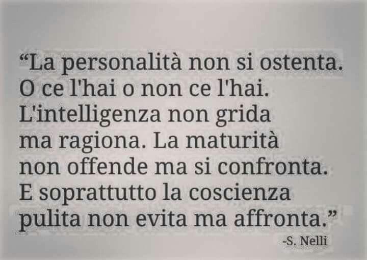La personalità...