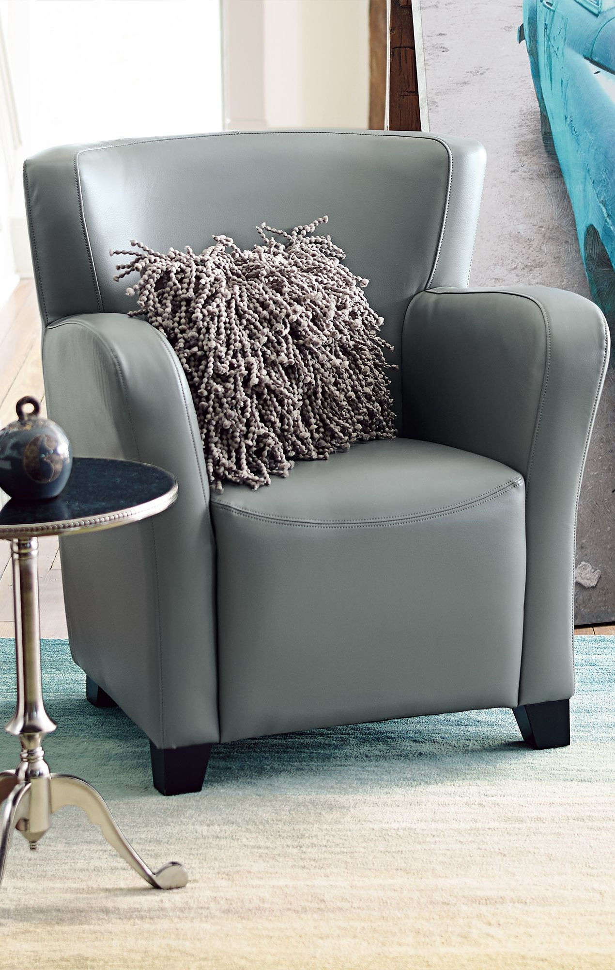 Our Oxford Leather Chair Sports A Space Friendly Design With Supportive  Cushioning.