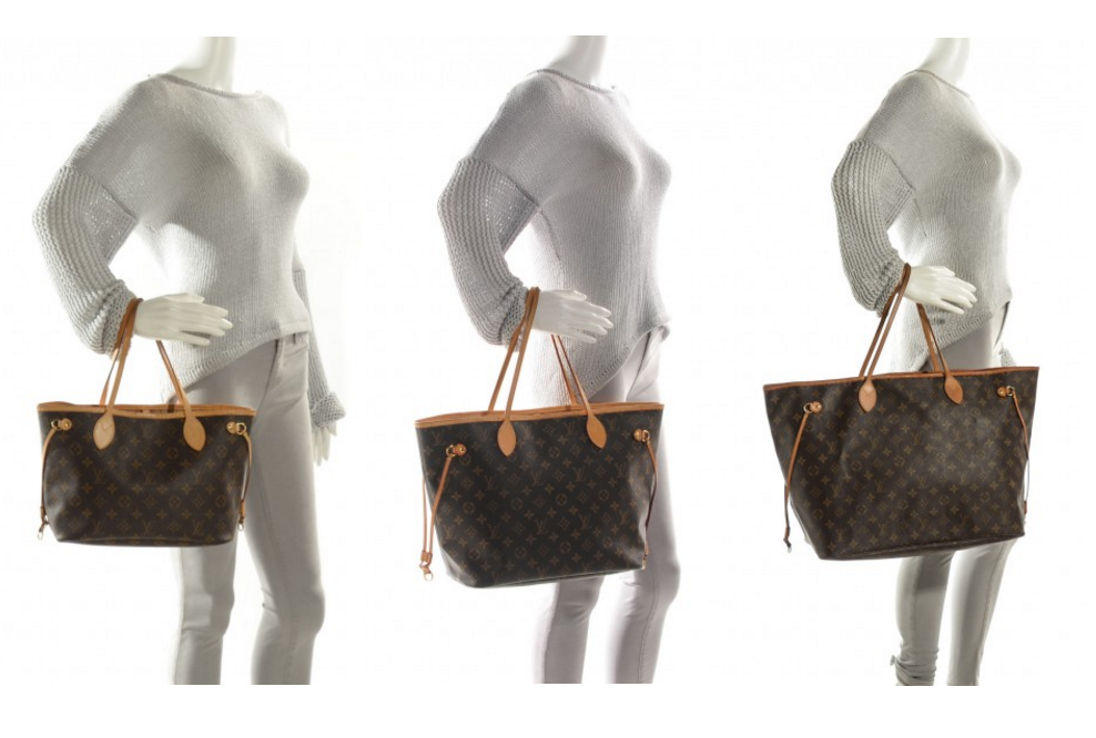 Neverfull PM, MM, GM - sizing on arm. | Louis vuitton ...