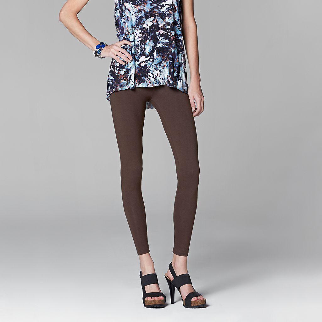 b50d3c9e3b8182 Women's Simply Vera Vera Wang Solid Leggings   Cute Outfits   Simply ...