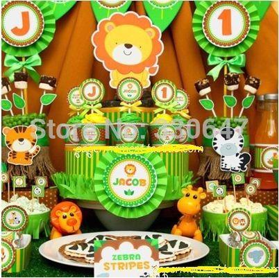 Cheap animal de la selva forrest tema fiesta de cumplea os - Decoracion cumpleanos nino 6 anos ...