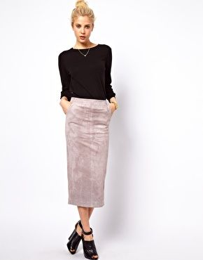 ASOS Pencil Skirt in Suede | Clothes | Pinterest | Discover more ...