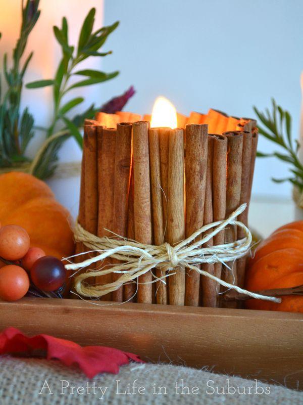 Cinnamon Stick Candles
