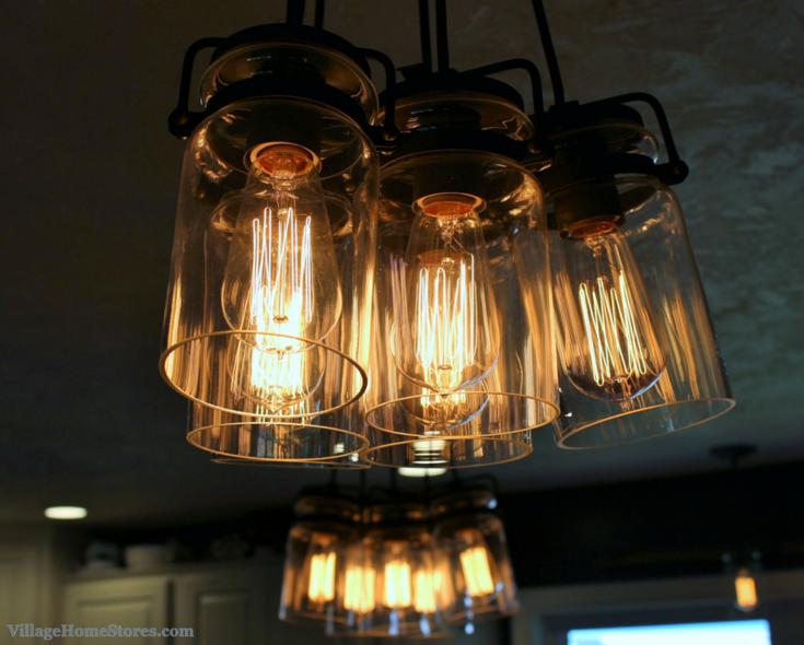 Kichler Brinley #edison Bulb Lights Above Island. | VillageHomeStores.com