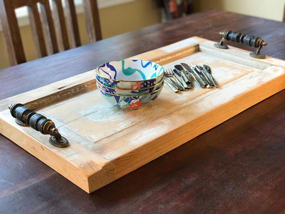 28 Coffee Table Tray Reclaimed Wood Tray Farmhouse