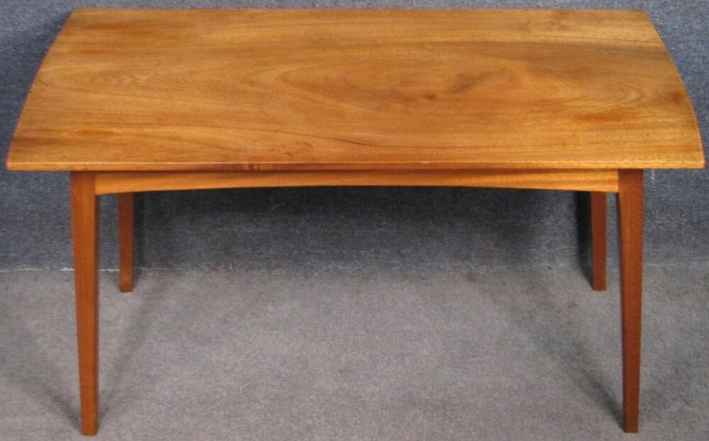 Details About 1960s Solid Mahogany Coffee Table Mahogany Coffee