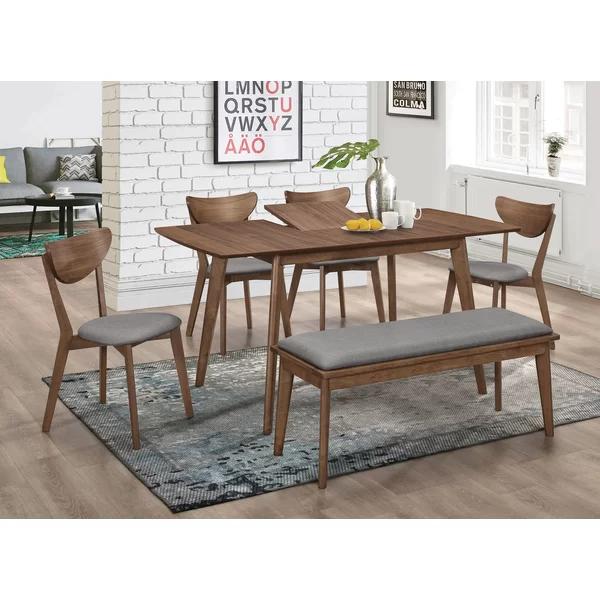 Jamya Butterfly Leaf Dining Table Walnut Dining Table Dining Table Rectangular Dining Table