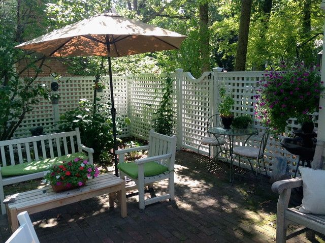 Patio Fence With Gate Traditional Patio Yard With Patio Fence Removable  Fence Design Ideas