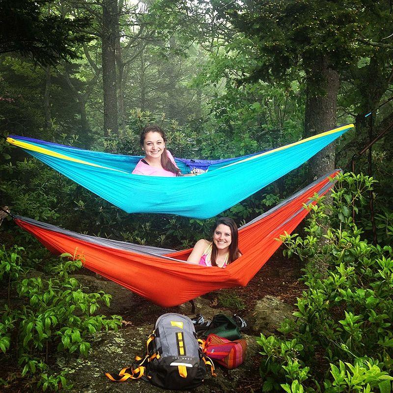 2016 Double Hammock C&ing Survival Hammock 300*200cm Parachute Cloth Portable Double Person outdoor Leisure  sc 1 st  Pinterest & 2016 Double Hammock Camping Survival Hammock 300*200cm Parachute ...