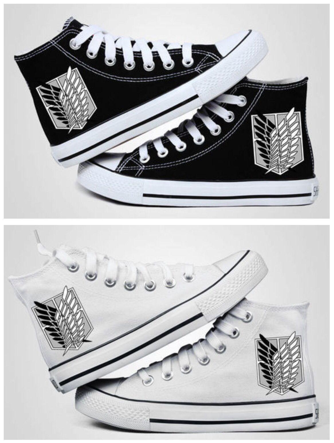 attack on titan shoes | Zapatos kawaii, Zapatos pintados