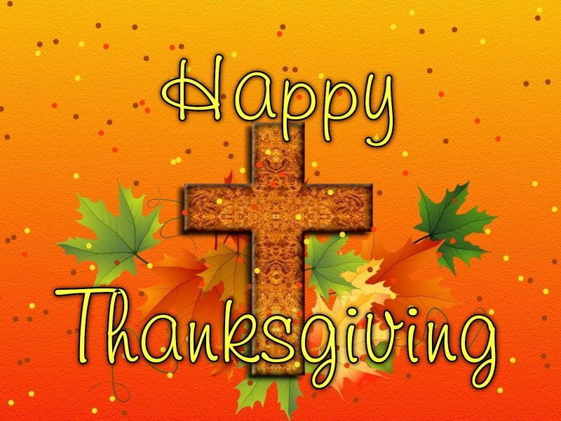 Happy Thanksgiving With Cross Thanksgiving Happy