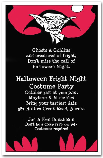 scary invitation wording ideas and samples for halloween party at, Party invitations