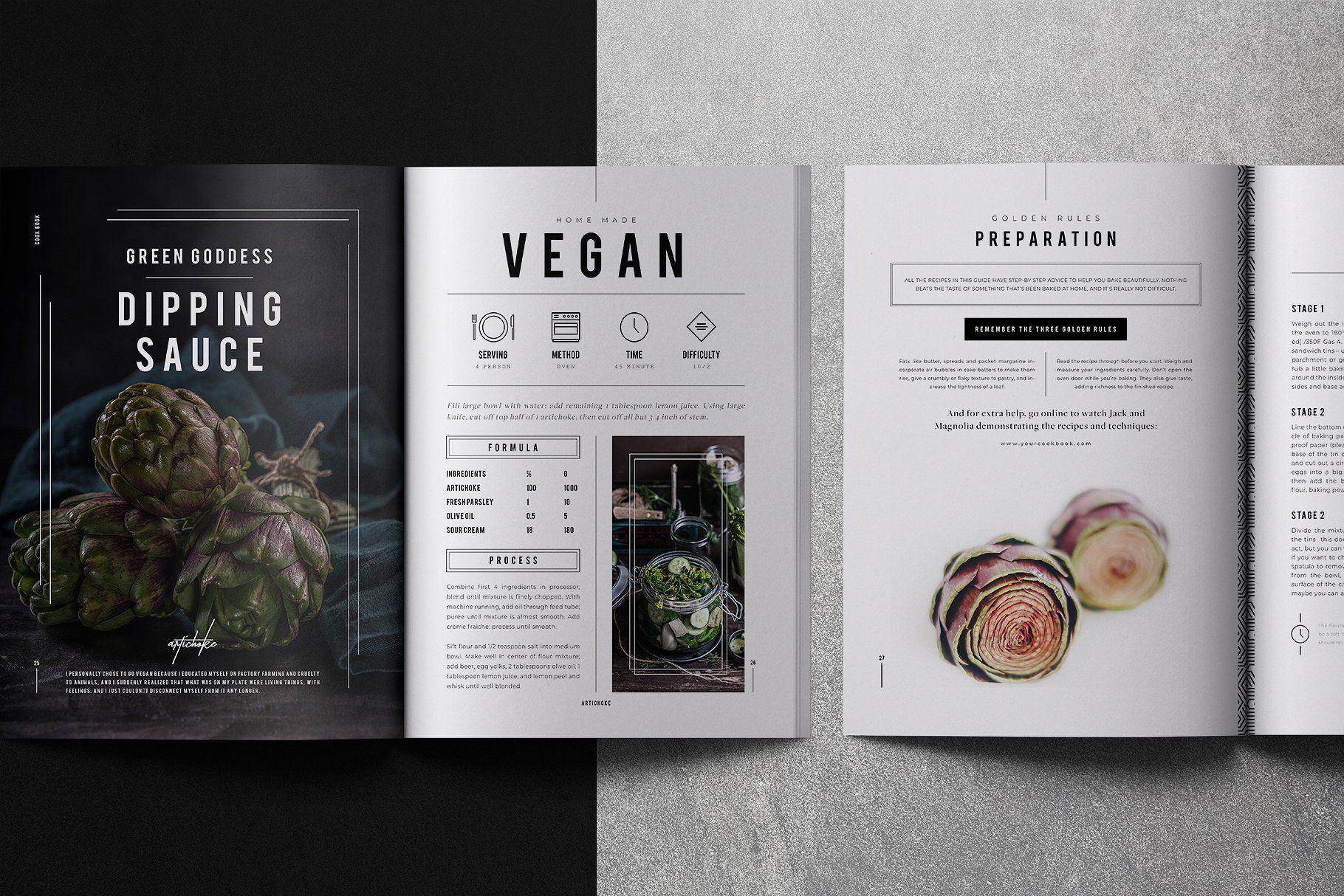 Cookbook Recipe Book Recipe Book Design Cookbook Design Recipe Book