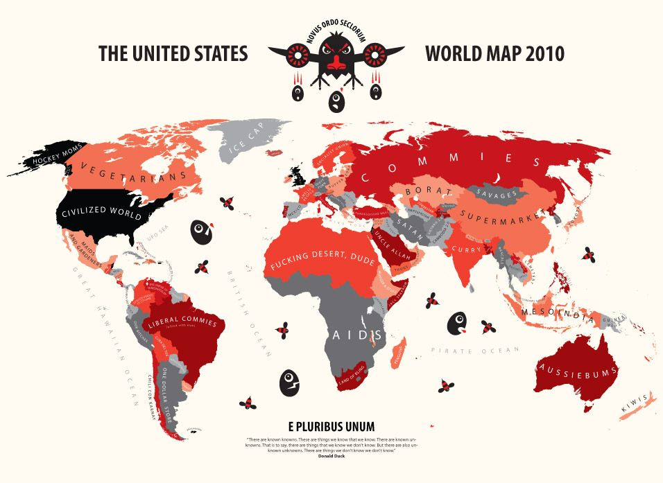 35 best alphadesigner mapping stereotypes images on pinterest world according to usa fearmonger edition print publicscrutiny Gallery