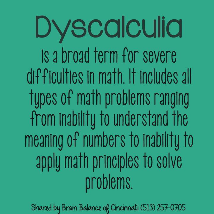 Dyscalculia - Wikipedia