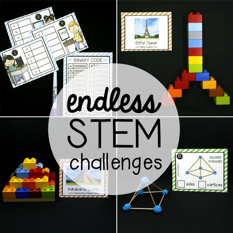 Building Shapes Stem Cards Fourth Grade Stem Challenges Stem