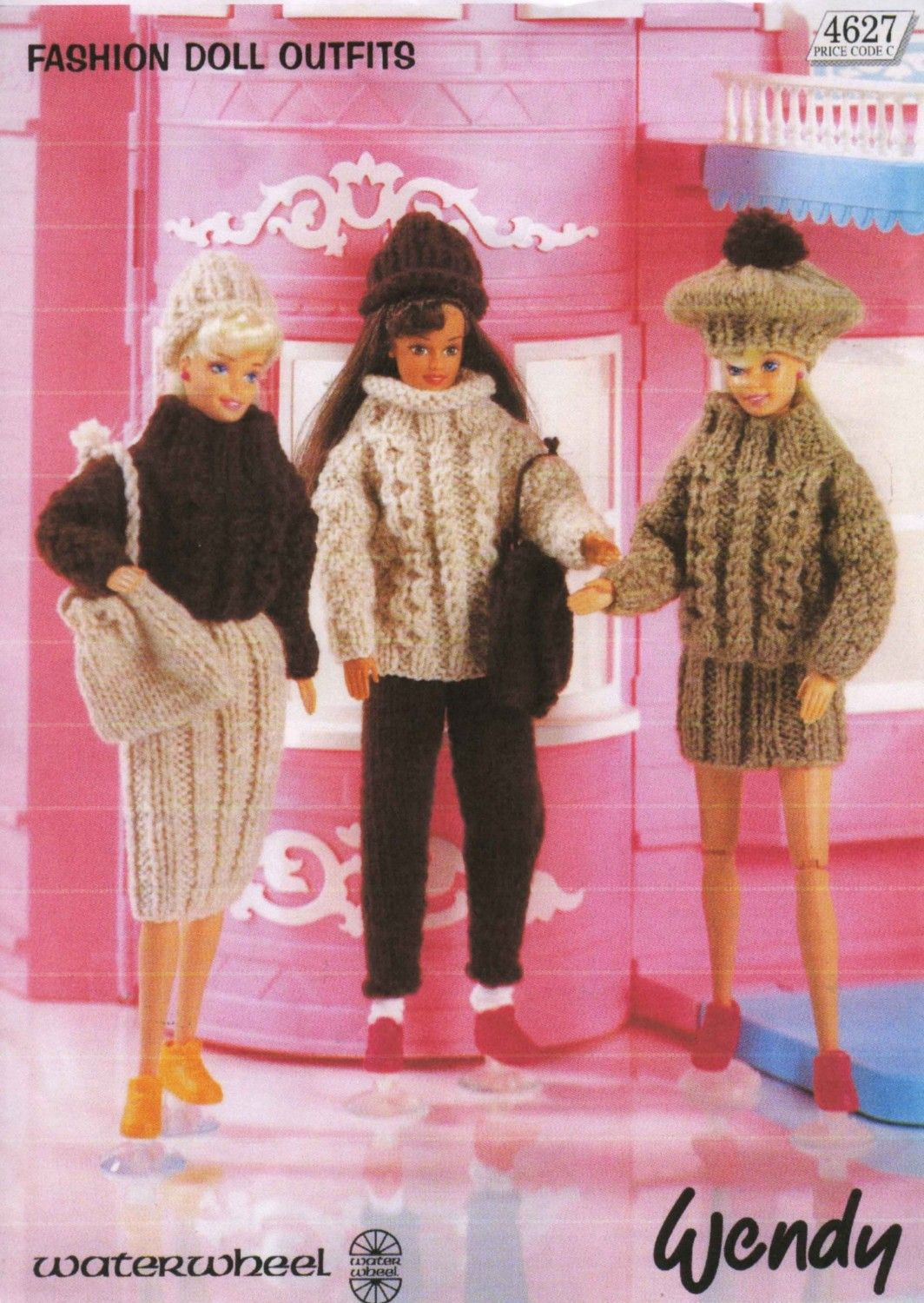 Vintage Fashion Doll Short And Long Skirts Sweater Trousers Hat Beret Rucksack Or Bag