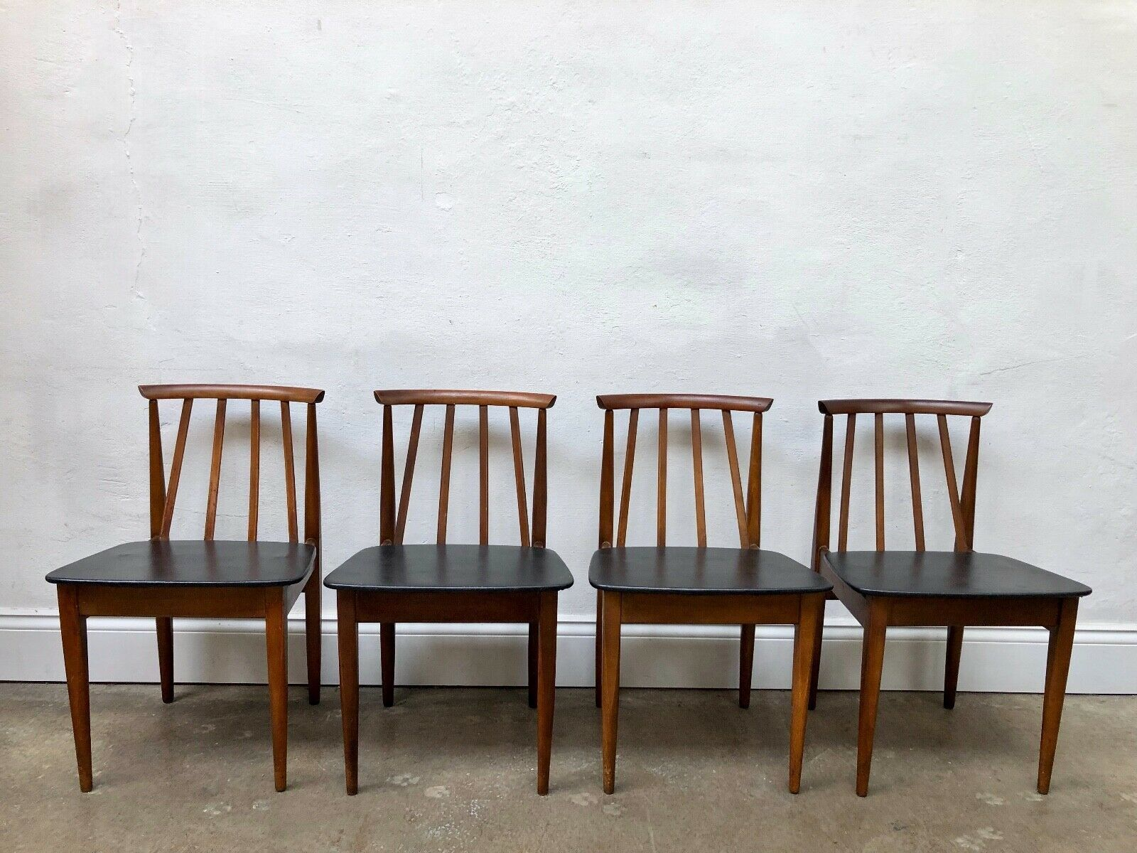 Amazing Vintage Set Of Eon Elliotts Of Newbury Teak Danish Dining Pabps2019 Chair Design Images Pabps2019Com