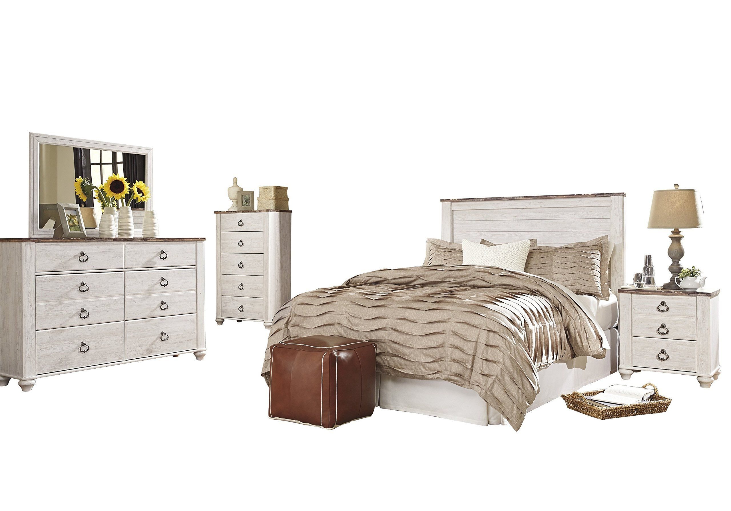 Best Ashley Willowton 5Pc Queen Full Panel Bedroom Set With 400 x 300