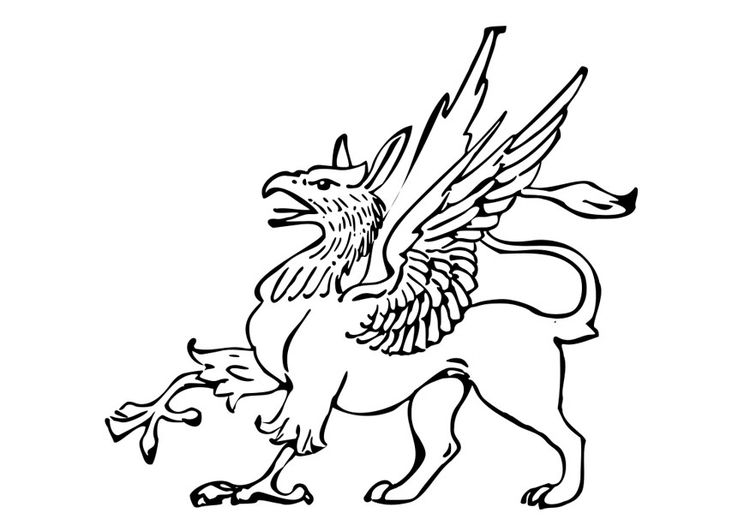 Coloring Page Griffin Img 27797 Coloring Pages Color Griffin