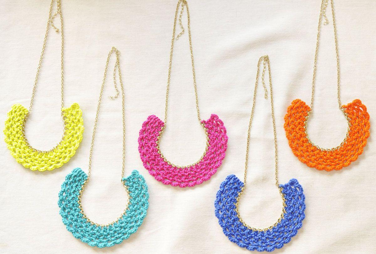tienda Pop Color! Crocheted Collares Babero - Relojes Joyas - Joyas ...