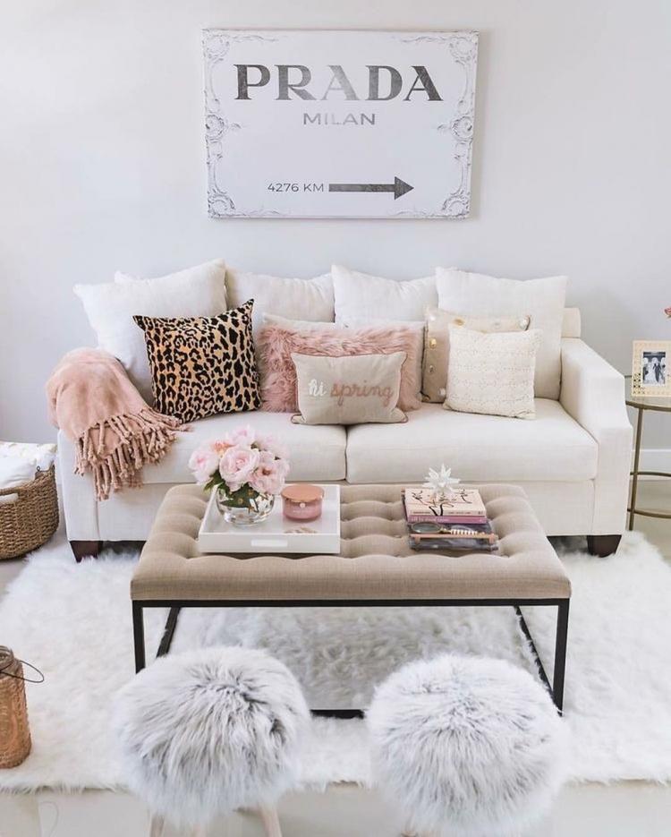 57 Cozy Feminine Living Rooms Decoration Ideas Woonkamer Appartement Slaapkamerdecoratieideeen Design Woonkamers