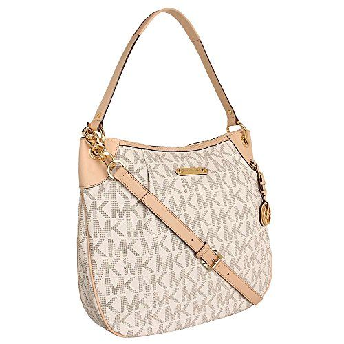 77748bc2934e #saucy Michael Kors Bedford Large Convertible Shoulder Bag in Vanilla –  Cream