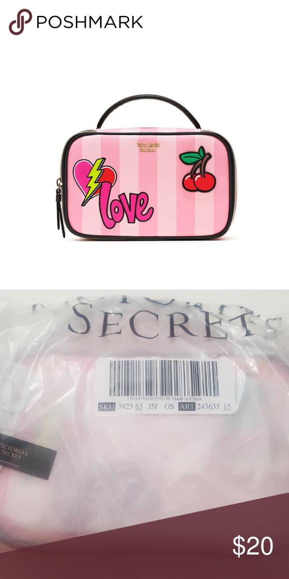 1ed4afe9e4af9 Victoria's Secret Patch Small Train Case Meet your patch. Appliqués ...