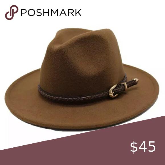 Light Coffee Wool Felt Fedora Hat Felt Fedora Women Accessories Hats Fedora