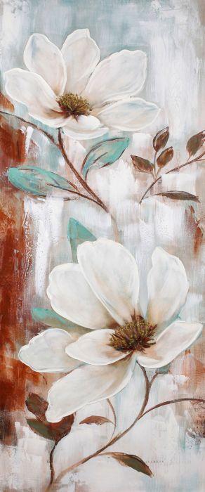 Framed Canvas Painting Flowers Vivian Cuadros Enmarcados Cuadros En Lienzo Pinturas Florales