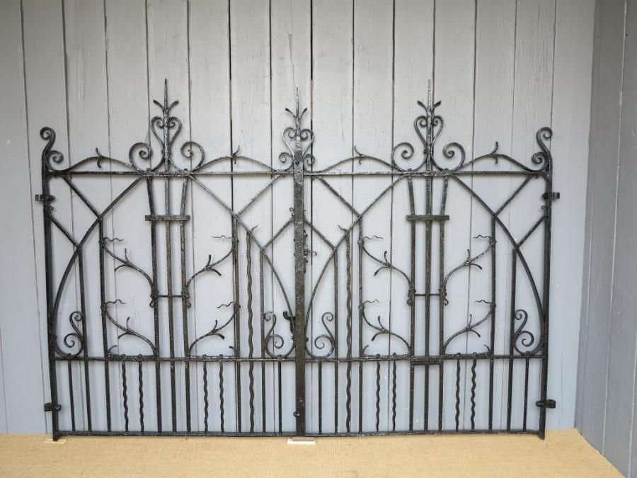 wrought iron gates arts and crafts style for sale on salvoweb from uk architectural antiques in. Black Bedroom Furniture Sets. Home Design Ideas