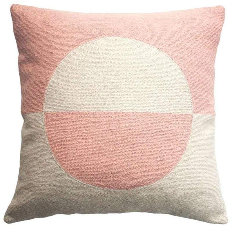 Leah Singh Daphne Circle Pink Throw Pillow