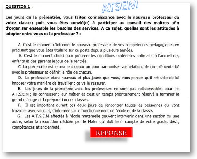 Atsem Petite Enfance Qcm Concours Atsem Concours Atsem
