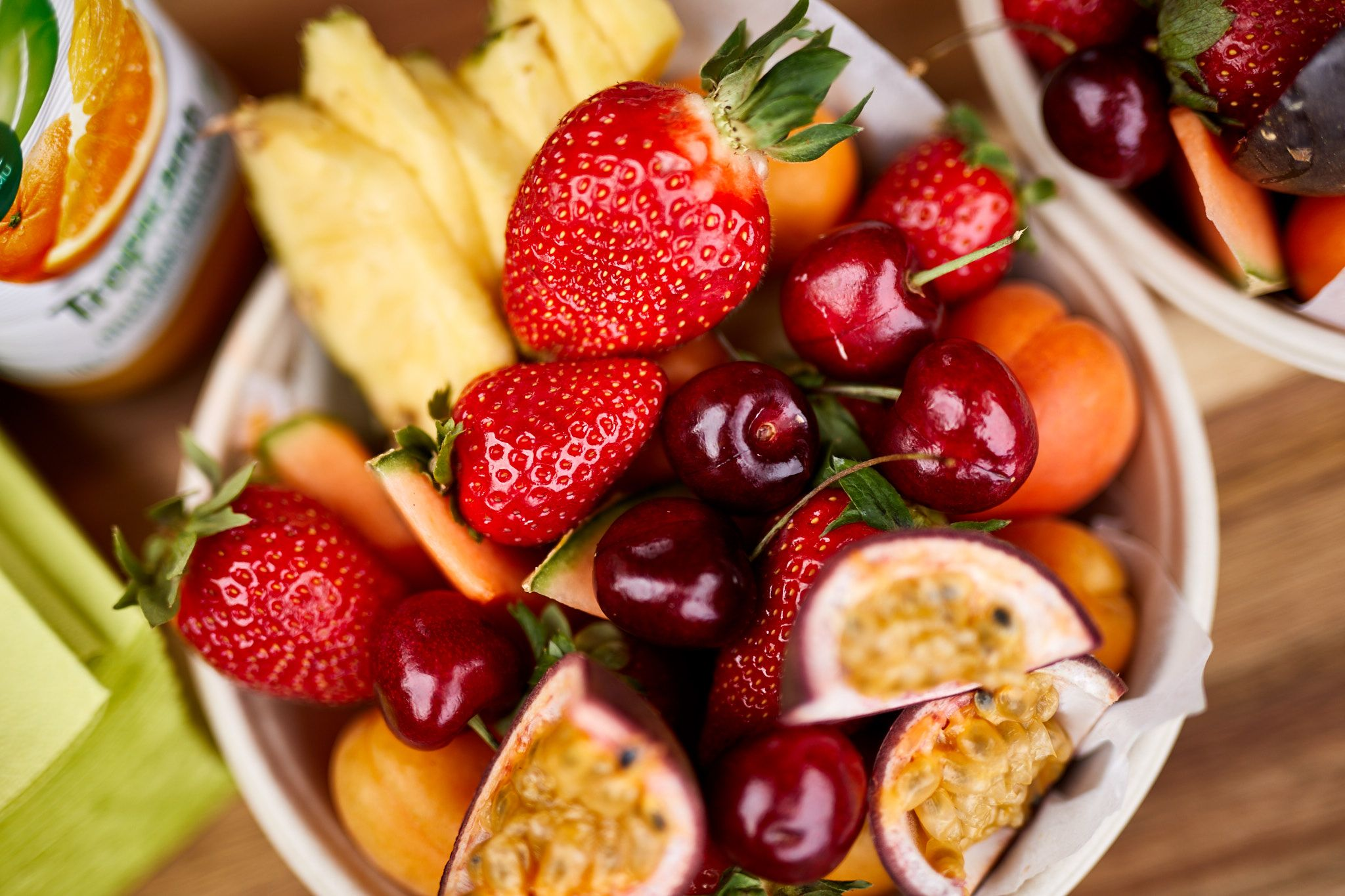 Delicious fruit plate.