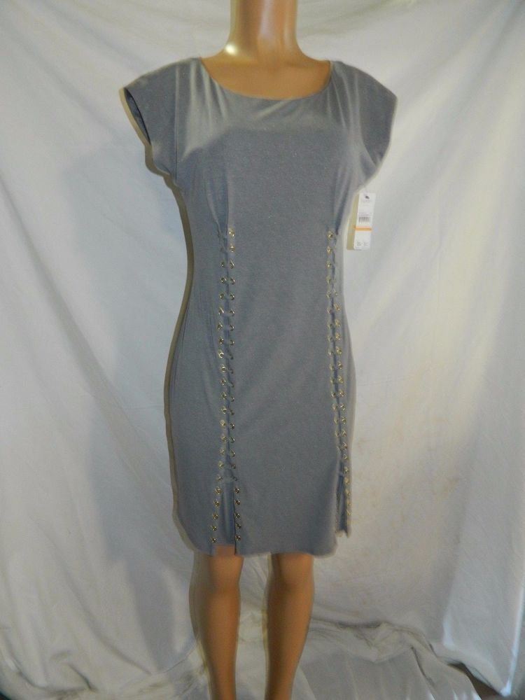 NWT Laundry By Shelli Segal Alloy Heather Dress INV#0086 #LaundryByShelliSegal #Cocktail