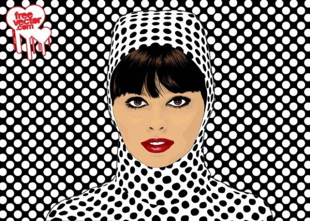 Pop art girl - ilustración vectorial