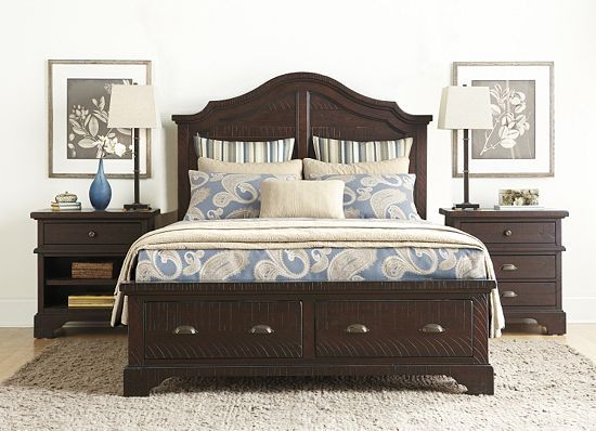 Bernhardt Bedroom Furniture. Distressed, Dark Brown. Http://www.havertys
