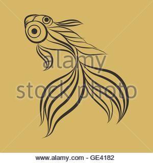 Goldfish Logo Vector Stock Photo Vector Logo Goldfish Types Goldfish