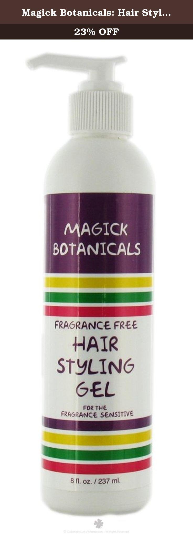Magick Botanicals Hair Styling Gel 8 Oz Hair Styling Gel Unscented By Magick Botanicals 8 Oz Gel Fragrance Free Hair Gel Fragrance Free Products Styling Gel