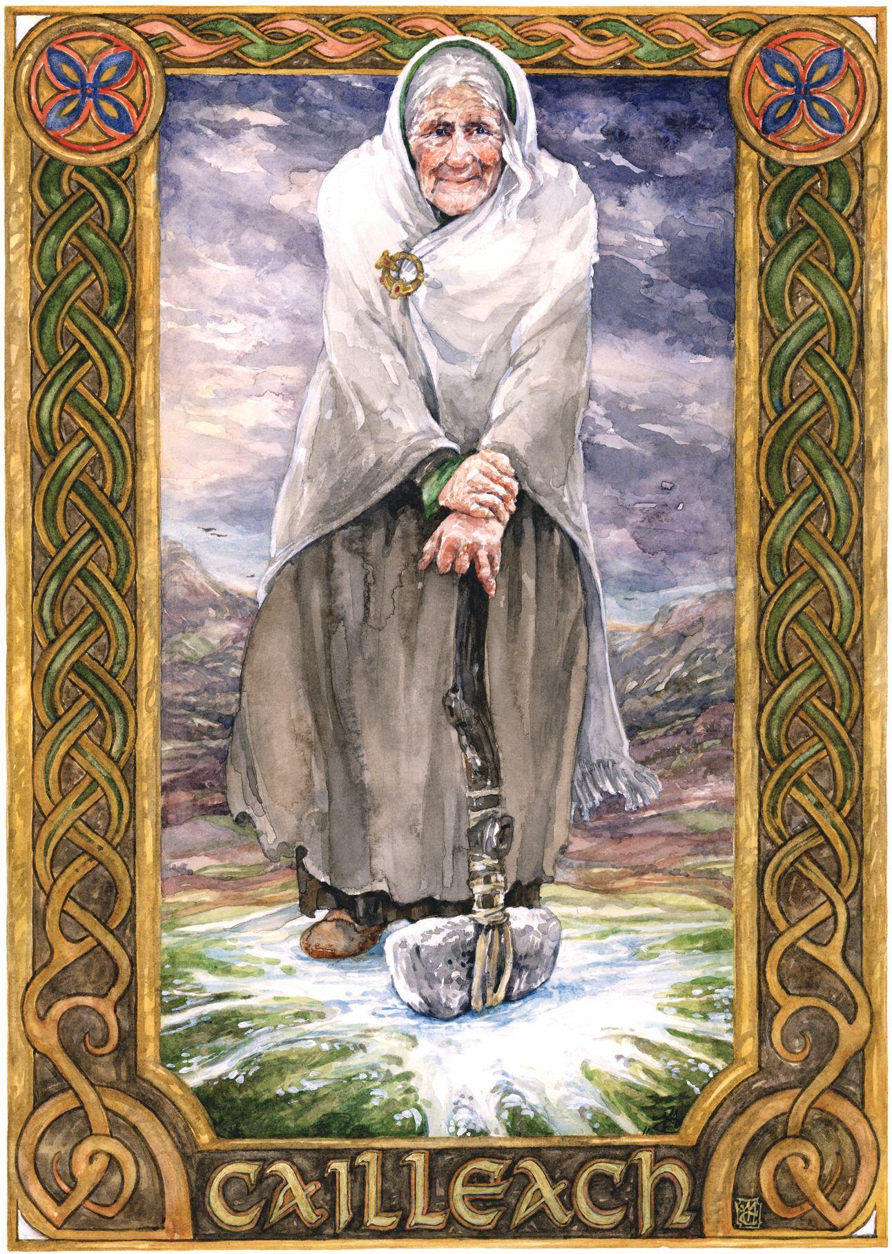 Cailleach AKA the Stormcrow Celtic gods, Celtic myth