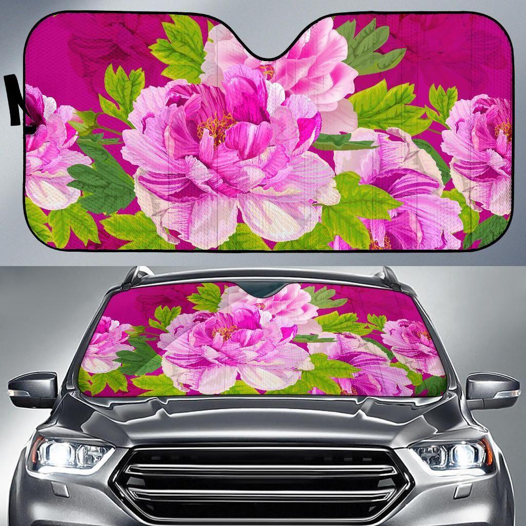 Pink Peony Lovers Auto Sun Shades Car sun shade, Sun