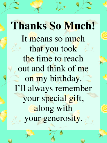 Pin On Thank You Cards For Birthday Wishes