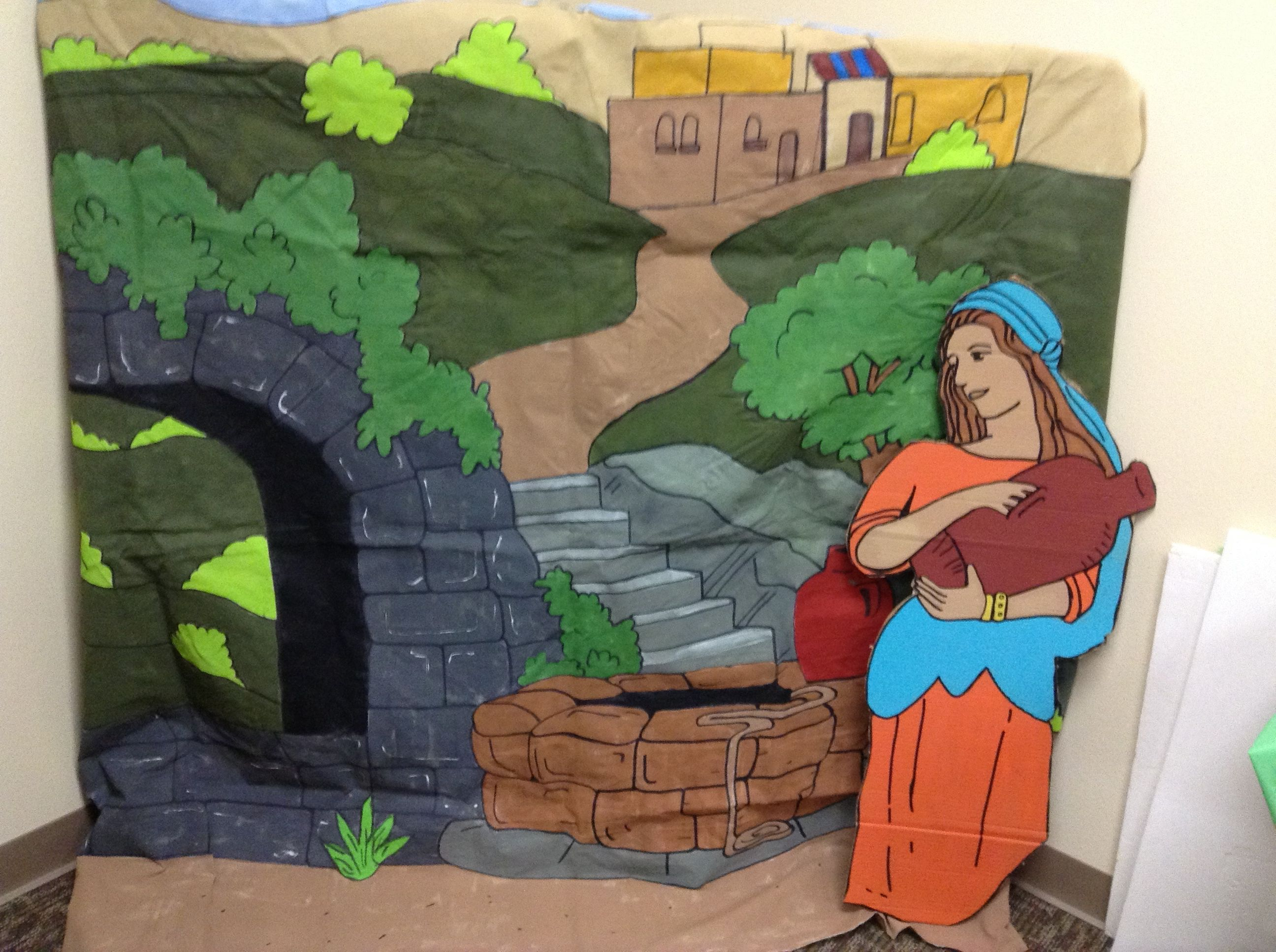 Woman at the Well Peel & Play from Guildcraft Arts & Crafts! Peel ...