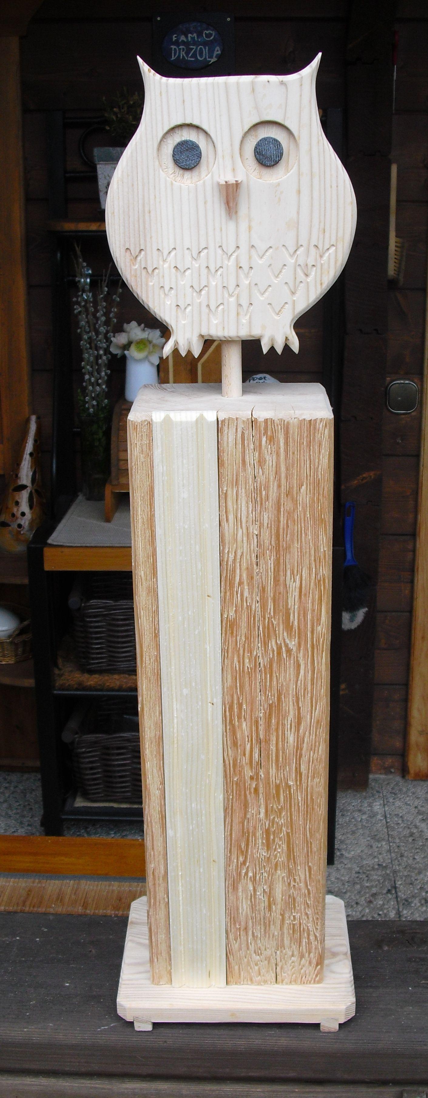 bildergebnis f r holzstelen f r den garten eulen owls holz eule und eulen aus holz. Black Bedroom Furniture Sets. Home Design Ideas