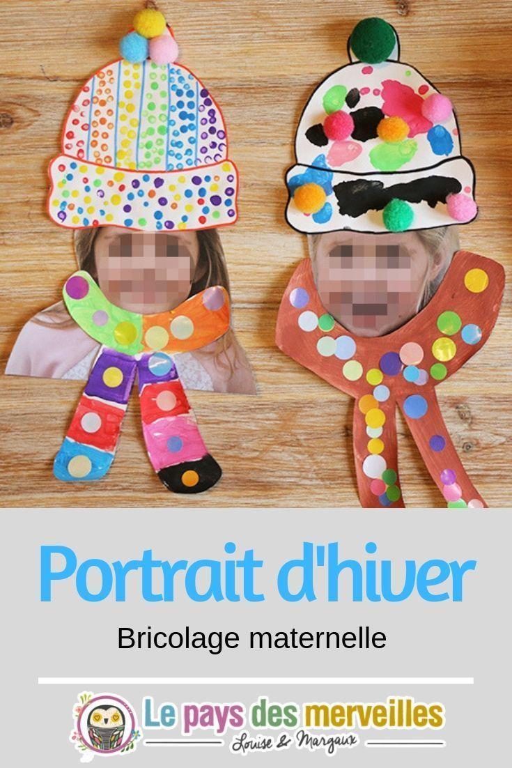 Portrait hiver Art visuel maternelle Ce portrait dhiver