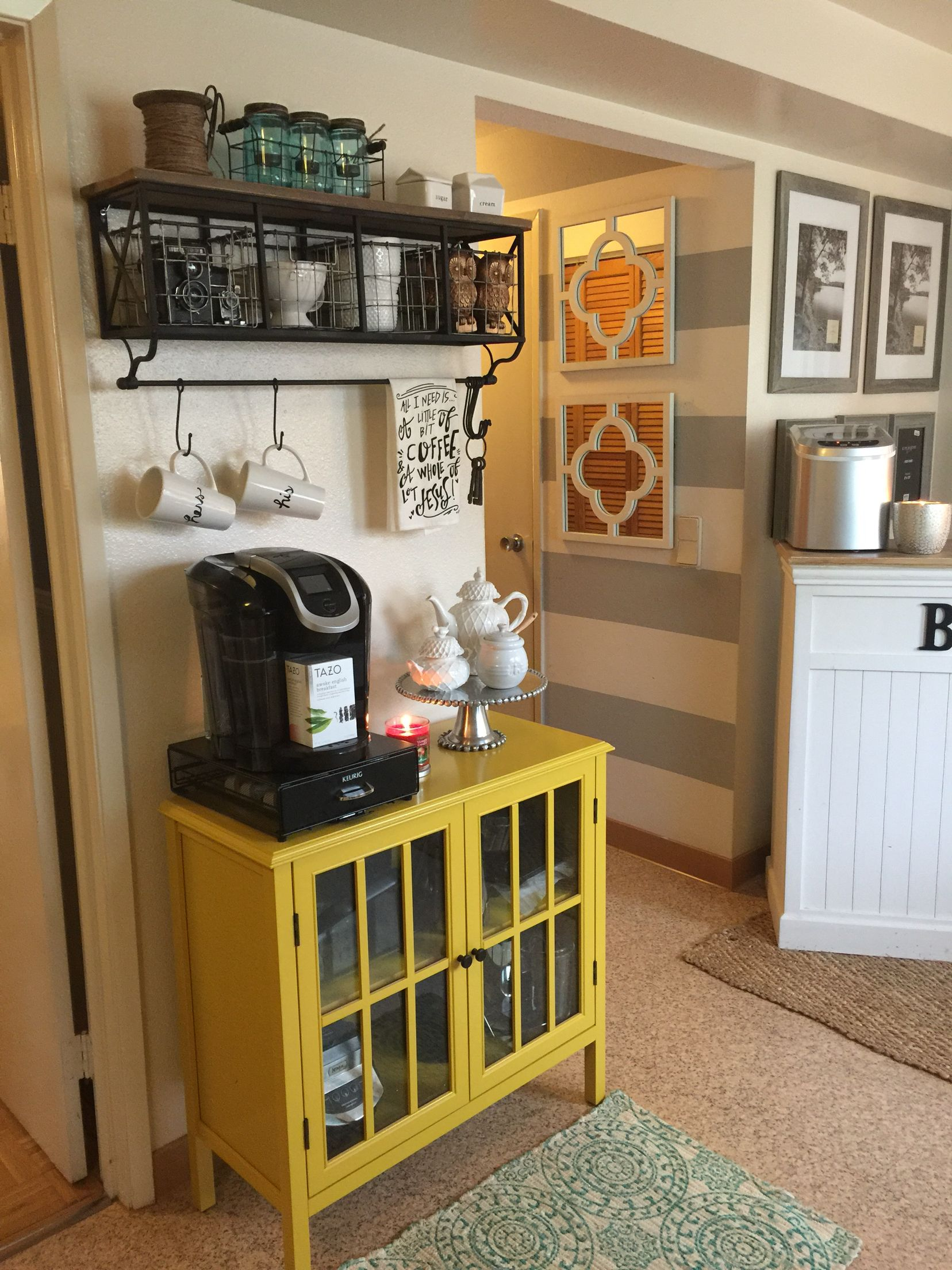 Coffee bar in military housing base housing The Home