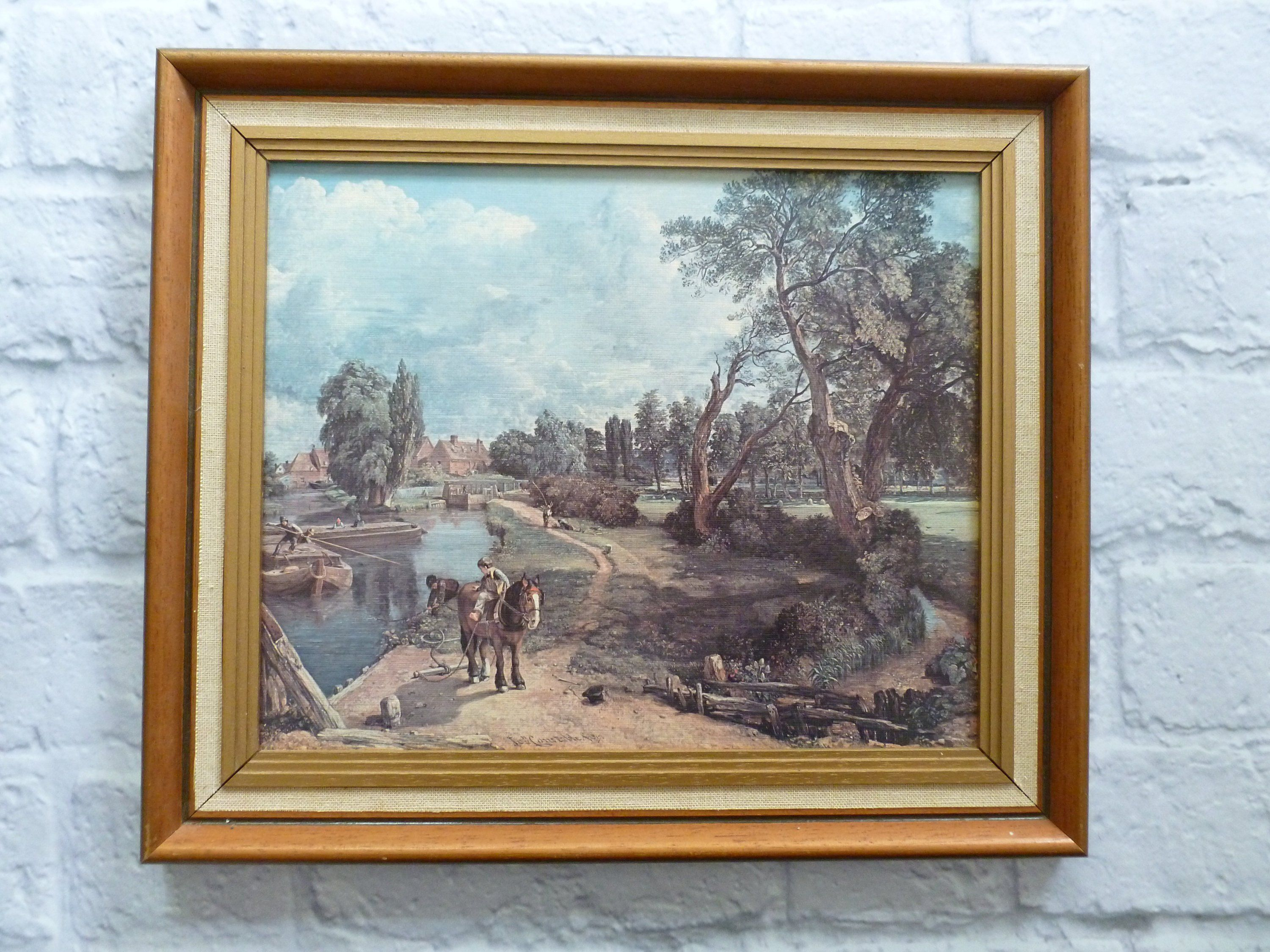 Reserved For Louise Vintage Framed Lithograph Flatford Mill Etsy Vintage Frames Lithograph Vintage Wall Art