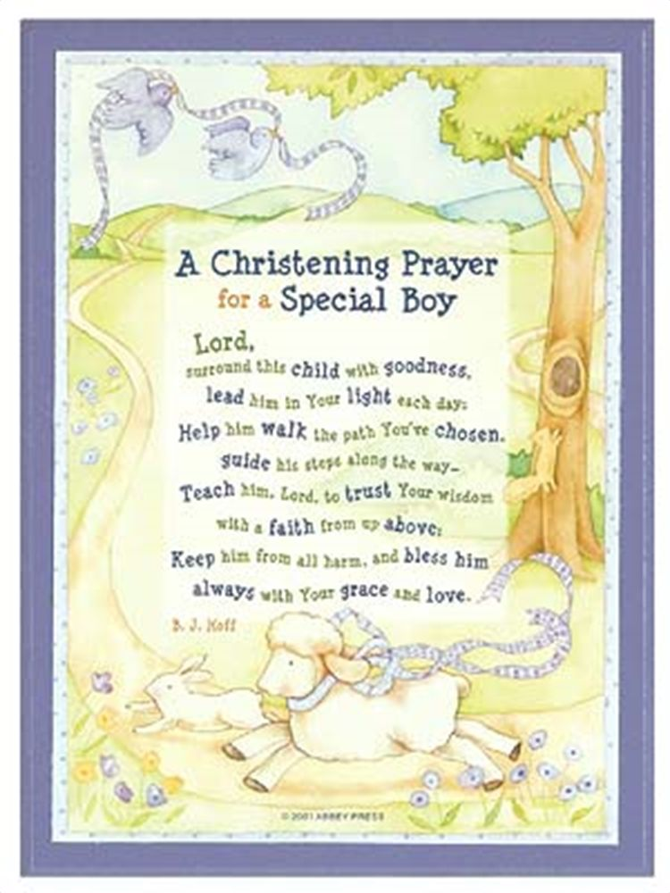 Christening Prayer Plaque Boy Catholic And Or Bible Related